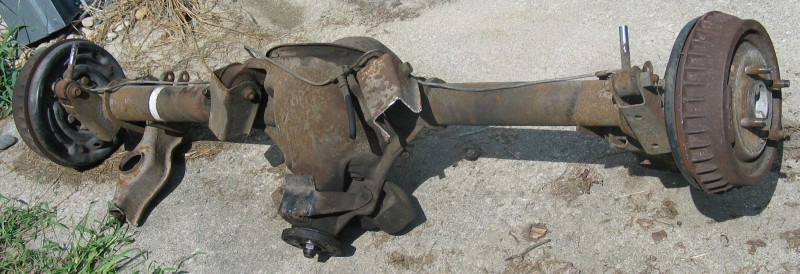 how to identify ford rear end